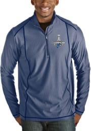 Antigua St Louis Blues Mens Blue Tempo Long Sleeve 1/4 Zip Pullover