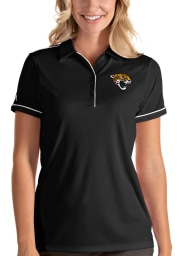Antigua Jacksonville Jaguars Womens Black Salute Short Sleeve Polo Shirt