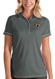 Antigua Jacksonville Jaguars Womens Grey Salute Short Sleeve Polo Shirt