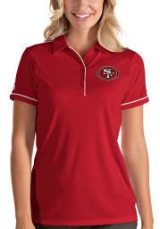 Antigua San Francisco 49ers Womens Red Salute Short Sleeve Polo Shirt