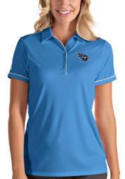 Antigua Tennessee Titans Womens Blue Salute Short Sleeve Polo Shirt