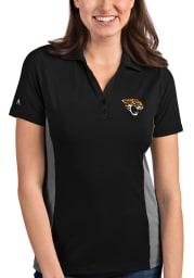 Antigua Jacksonville Jaguars Womens Black Venture Short Sleeve Polo Shirt