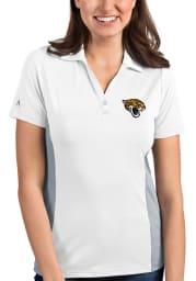 Antigua Jacksonville Jaguars Womens White Venture Short Sleeve Polo Shirt