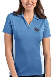 Antigua Tennessee Titans Womens Blue Venture Short Sleeve Polo Shirt