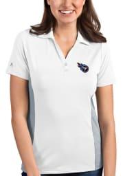 Antigua Tennessee Titans Womens White Venture Short Sleeve Polo Shirt