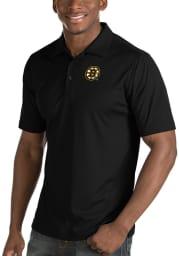 Antigua Boston Bruins Mens Black Inspire Short Sleeve Polo