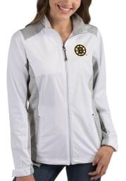 Antigua Boston Bruins Womens White Revolve Light Weight Jacket