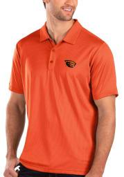 Antigua Oregon State Beavers Mens Orange Balance Short Sleeve Polo