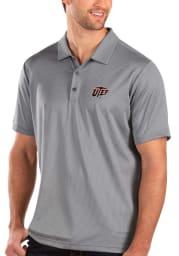 Antigua UTEP Miners Mens Grey Balance Short Sleeve Polo