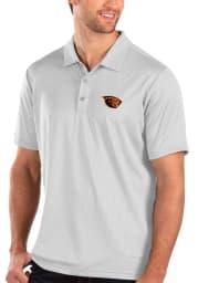 Antigua Oregon State Beavers Mens White Balance Short Sleeve Polo