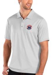 Antigua Washington Wizards Mens White Balance Short Sleeve Polo