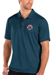 Antigua Washington Wizards Mens Navy Blue Balance Short Sleeve Polo