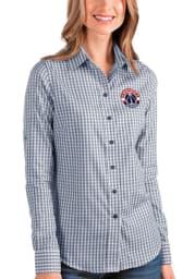Antigua Washington Wizards Womens Structure Long Sleeve Navy Blue Dress Shirt