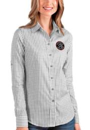 Antigua Toronto Raptors Womens Structure Long Sleeve Grey Dress Shirt
