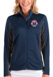 Antigua Washington Wizards Womens Navy Blue Passage Medium Weight Jacket