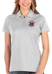 Antigua Washington Wizards Womens White Balance Short Sleeve Polo Shirt