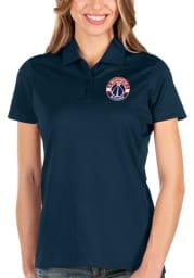 Antigua Washington Wizards Womens Navy Blue Balance Short Sleeve Polo Shirt