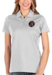 Antigua Toronto Raptors Womens White Balance Short Sleeve Polo Shirt