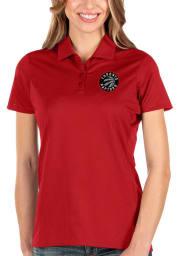 Antigua Toronto Raptors Womens Red Balance Short Sleeve Polo Shirt