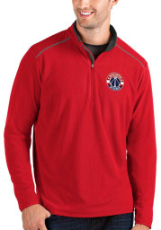 Antigua Washington Wizards Mens Red Glacier Long Sleeve 1/4 Zip Pullover