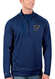 Antigua St Louis Blues Mens Blue Generation Long Sleeve 1/4 Zip Pullover