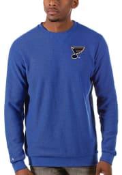 Antigua St Louis Blues Mens Blue Incline Long Sleeve Sweater