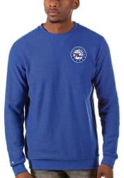 Antigua Philadelphia 76ers Mens Blue Incline Long Sleeve Sweater