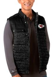 Antigua Kansas City Chiefs Mens Black Soar Sleeveless Jacket