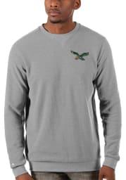 Antigua Philadelphia Eagles Mens Grey Incline Long Sleeve Sweater