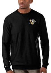 Antigua Pittsburgh Penguins Mens Black Incline Long Sleeve Sweater