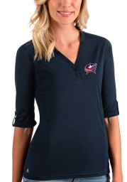 Antigua Columbus Blue Jackets Womens Navy Blue Accolade LS Tee