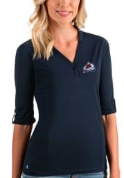 Antigua Colorado Avalanche Womens Navy Blue Accolade LS Tee