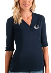 Antigua Vancouver Canucks Womens Navy Blue Accolade LS Tee
