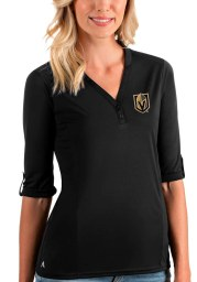 Antigua Vegas Golden Knights Womens Black Accolade LS Tee
