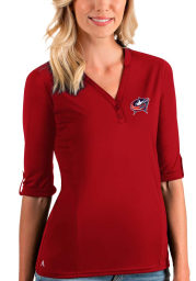 Antigua Columbus Blue Jackets Womens Red Accolade LS Tee