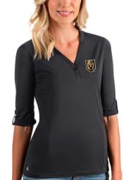 Antigua Vegas Golden Knights Womens Grey Accolade LS Tee