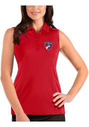 Antigua FC Dallas Womens Red Tribute Sleeveless Tank Top