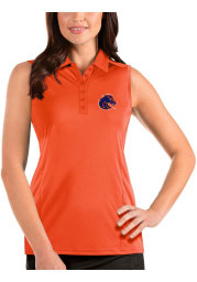 Antigua Boise State Broncos Womens Orange Tribute Sleeveless Tank Top