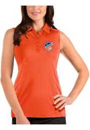 Antigua FC Cincinnati Womens Orange Tribute Sleeveless Tank Top