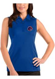 Antigua Boise State Broncos Womens Blue Tribute Sleeveless Tank Top