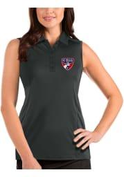 Antigua FC Dallas Womens Grey Tribute Sleeveless Tank Top