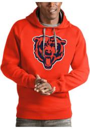 Antigua Chicago Bears Mens Orange Victory Long Sleeve Hoodie