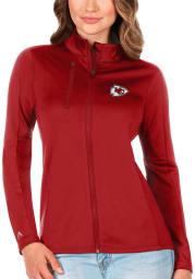 Antigua Kansas City Chiefs Womens Red Gernation Light Weight Jacket