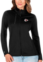 Antigua Kansas City Chiefs Womens Black Gernation Light Weight Jacket