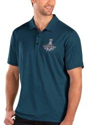 Antigua Tampa Bay Lightning Mens Navy Blue 2021 Stanley Cup Champions Balance Short Sleeve Polo