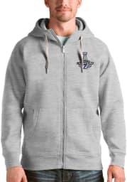 Antigua Tampa Bay Lightning Mens Grey 2021 Stanley Cup Champions Victory Long Sleeve Full Zip Jacket