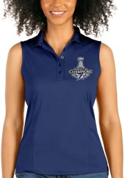 Antigua Tampa Bay Lightning Womens Blue 2021 Stanley Cup Champions Sleeveless Tribute Tank Top