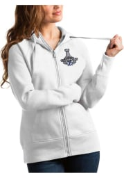 Antigua Tampa Bay Lightning Womens White 2021 Stanley Cup Champions Victory Long Sleeve Full Zip Jacket