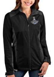 Antigua Tampa Bay Lightning Womens Black 2021 Stanley Cup Champions Revolve Light Weight Jacket