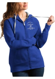 Antigua Tampa Bay Lightning Womens Blue 2021 Stanley Cup Champions Victory Long Sleeve Full Zip Jacket